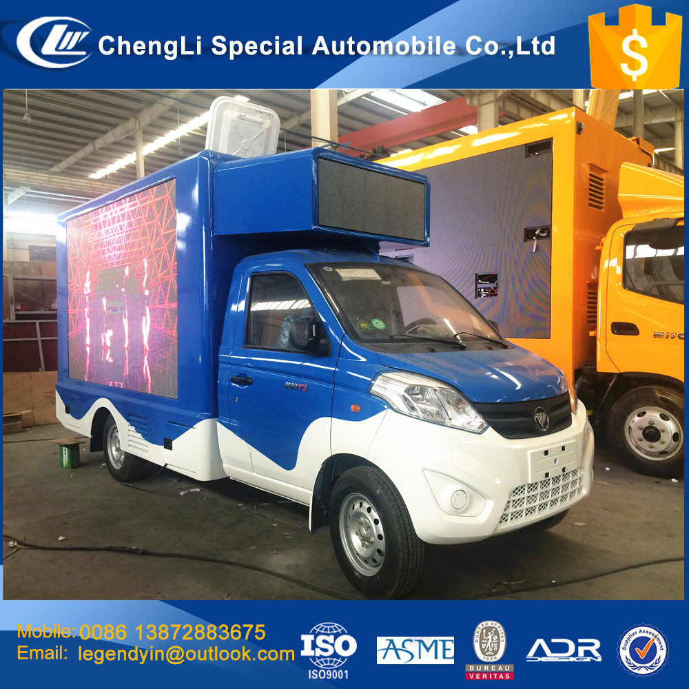 CLW full color LED publicity car 4x2 small mobile LED screen advertising truck for outdoor publicity