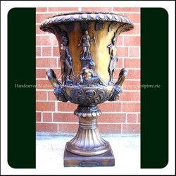 Decorative Exquite Outdoor Garden Cast Antique Bronze Planter