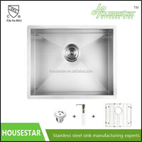 cupc commercial kitchen stainless steel sink undermount single bowl hand wash basins with colander and drainer - 4444-8