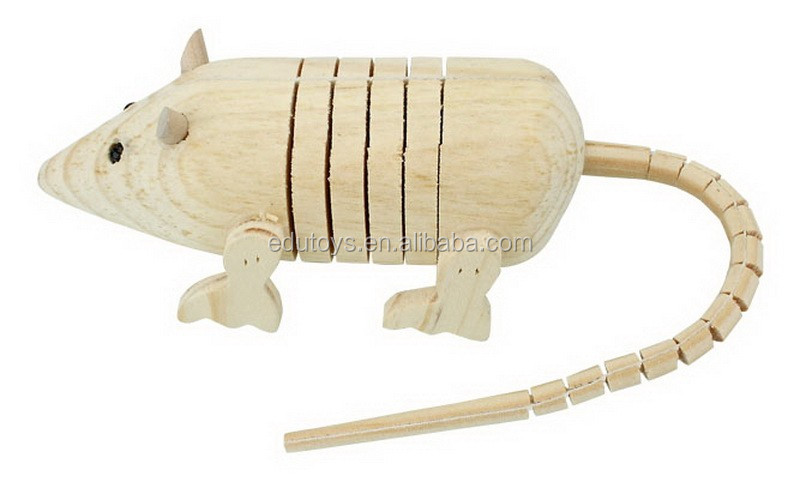 Natural Pinewood Material Wooden Educational Animal Toys Children Intelligent Diy Zoo for Promotion