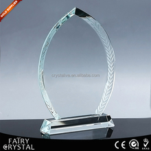 Pujiang blank glass award wholesale