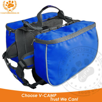 Excursion dog Backpack with open-top design