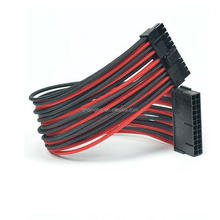 "Wholesale 12"" Black & Red ATX 24Pin to 24 Pin PSU Power Extension Cable"