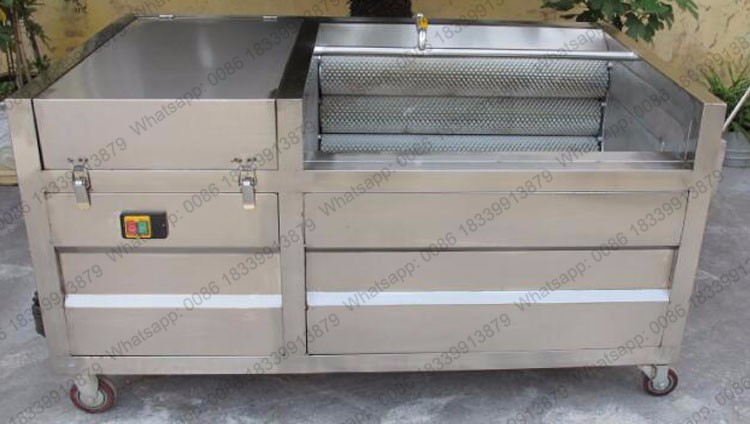 Industrial potato washing skin removing onion washing and peeling machine