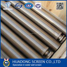 (Manufacture) SUS304 /304L /316 /316L sand control Water Well Screen /Johnson well casing screen pipe
