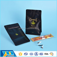 Coffee plastic bag stand up pouch