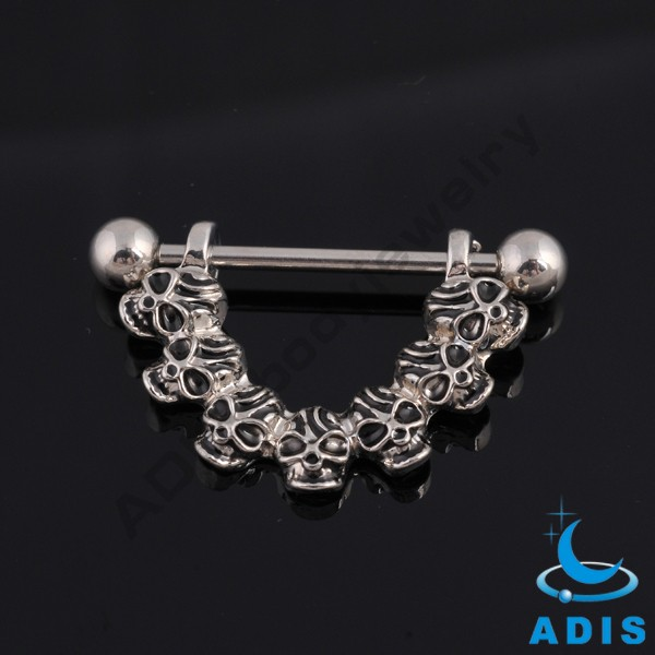 Unique Skull Breast Nipple Slave Penis Stretching Piercing Jewelry Nipple Rings