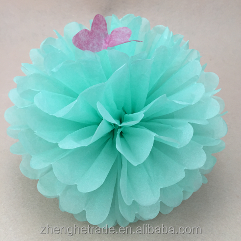 Colorful handmade <strong>Wedding</strong> and Party Decoration paper Pompoms flowers