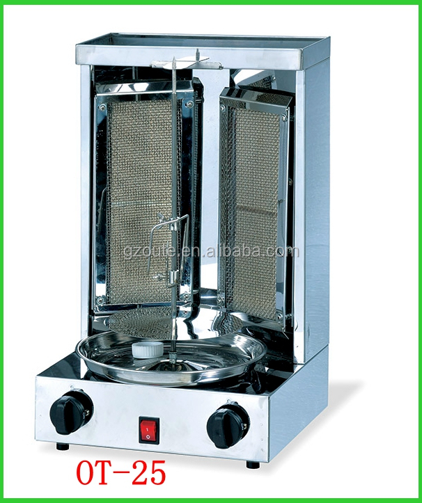 Meat processing equipment gas chicken shawarma machine factor price for sale(OT-25)