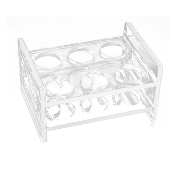 Plate Display Stand Acrylic 2 Rows Wine Glass Cup Holder Organizer Acrylic Wine Rack