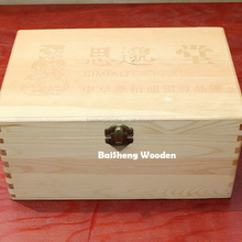 Nature style wooden packaging boxes essential oil storage box with compartments