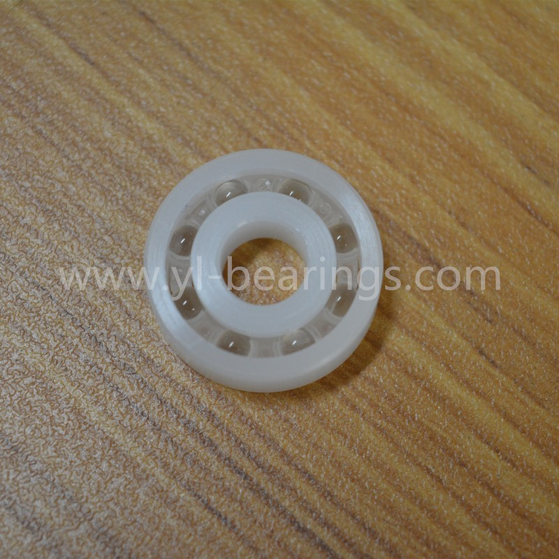POM plastic ball bearing with glass ball bearing pulley bearing
