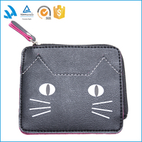 Simple Cheap Promotional Women PU Leather wallet Lady Wallets purses