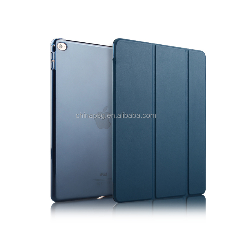 Anti-shock leather case, Ultra-thin Smart Leather Case for ipad air 2 with stand