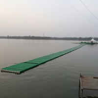 Custom plastic water floating platform for crossing the river and lake