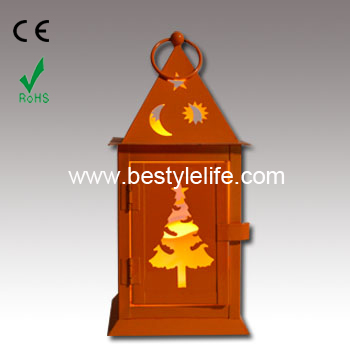 The Garden of Prayer Design Outdoor Flameless Candle Lantern with Timer