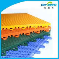 Polypropylene(PP) interlocking indoor sport flooring for south korea