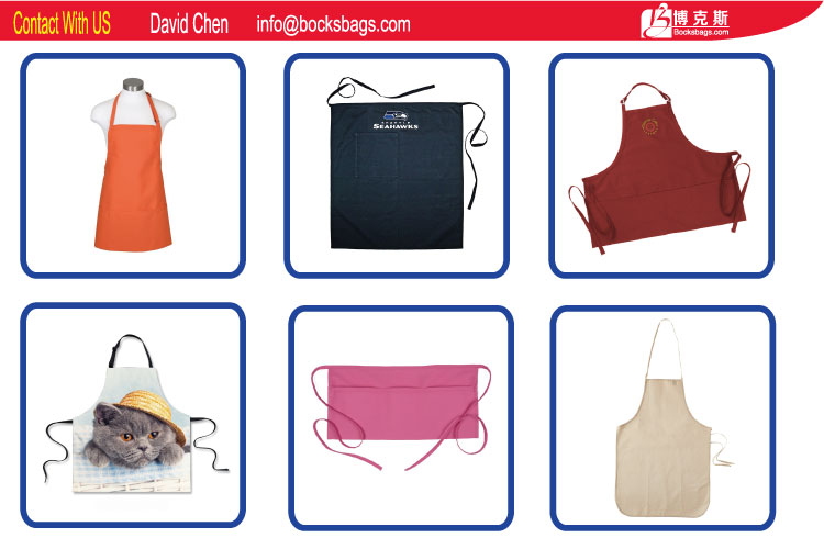 Full Size Bib Adult Aprons With Pockets And Adjustable Neck