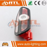 High quality black/beige logo light dimension same as original wireless led projector lighted car led light door sill