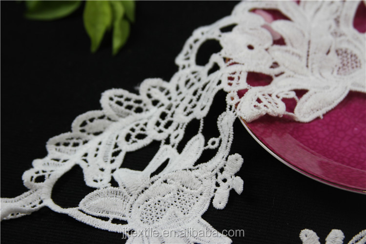 fabric flower applique decorative embrodered lace collar