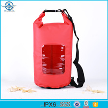 New Fashion PVC Waterproof Beach Dry Bag With Clear Window for outdoor sports