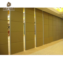 Sliding folding partition and office room acoustic movable wall partition