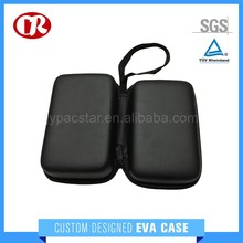 SGS&RoHS approved black color PU hard shell durable eva case
