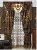 European Neo-Classical Balcony Hollow Out Embroidy Blackout Drape Curtain