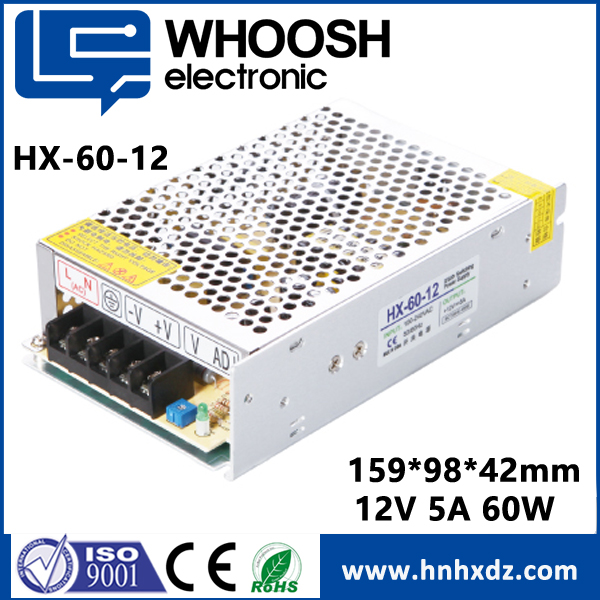 Hot Cheap Constant Voltage 12V 5A 60W led Power supply