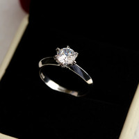Aliexpress hot sale newest design 925 sterling silver fashion Jewelry Engagement Wedding ring