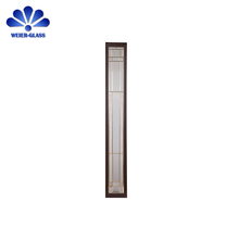 New design decorative glass panels for door inserts