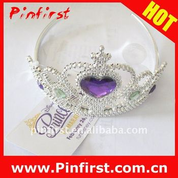 Princess Crown New Plastic Fairy Blinking Metallic Tiara