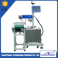 Good promotion optical fiber laser marking machine for flying rings for pharmaceutical