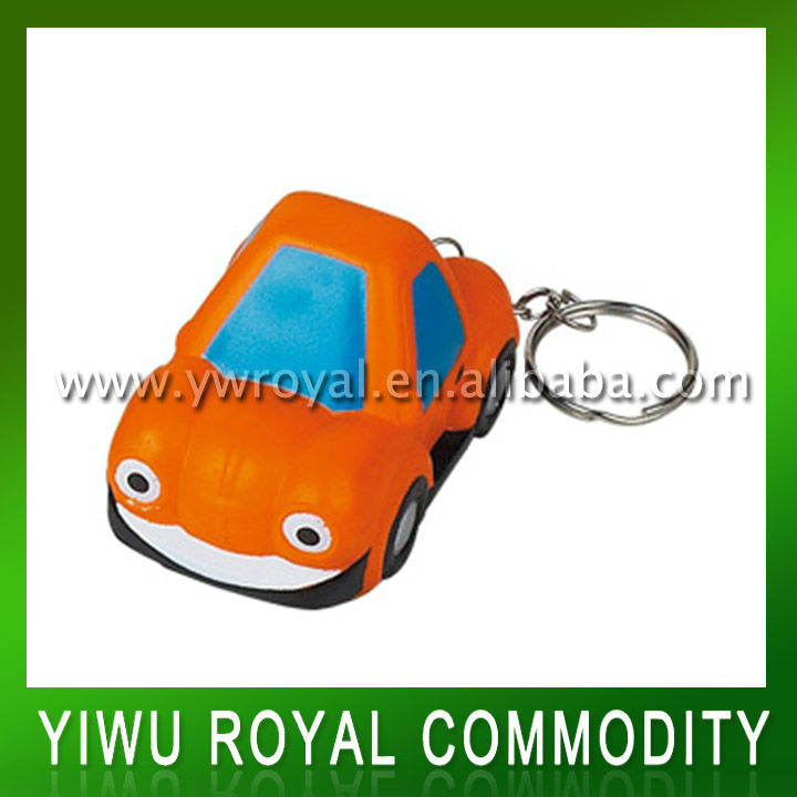 Cute Car Shaped Anti Stress Ball Keychain