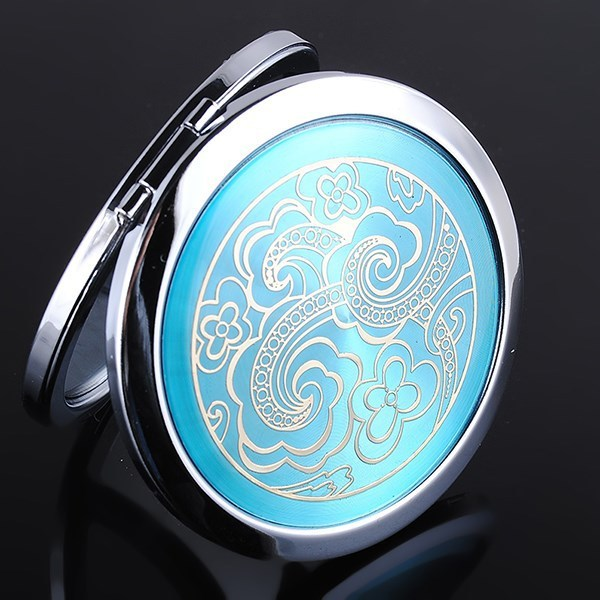 wholesale double side makeup cosmetic compact magnify pocket mirror