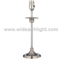 UL Hotel Lighting Factory Metal Table Light Base Only In Nickel Finish For Project B30011