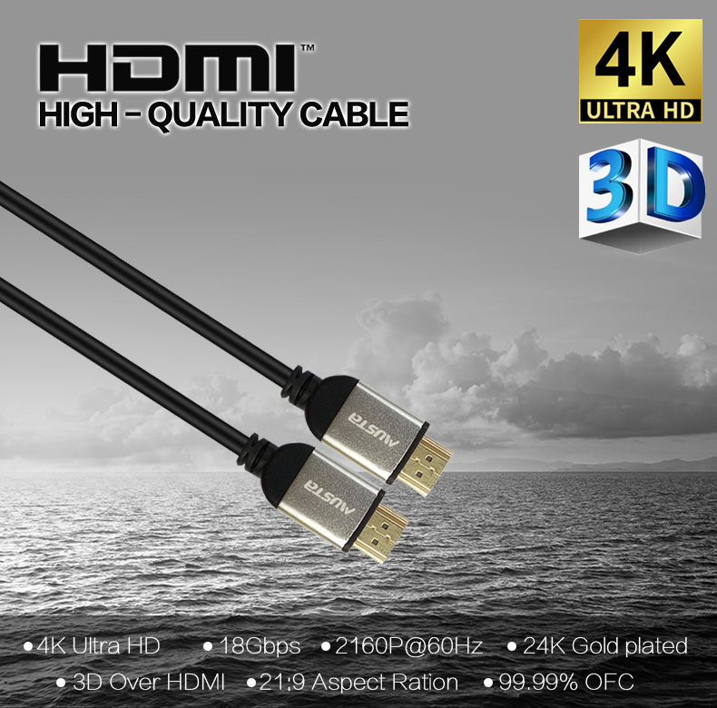 HDTV high speed with ethernet premium HDMI cable male to male 4K cable  HDCP 2.2