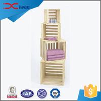 Elegant modern towl stacking crates wood display racks