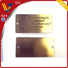 2013High quality metal brand tag from china