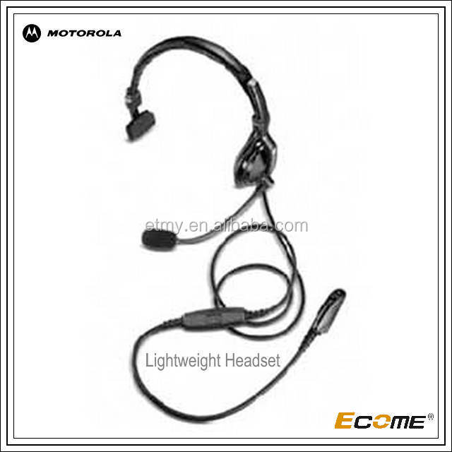 2015 Ecome ATEX Over-the-Head Lightweight Headset for motorola walkie talkie /two way radio GP329EX&PTX760EX