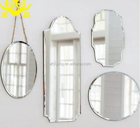 2016 beveled edge decorative wall mirror glass tile pieces