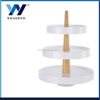 Three layers white acrylic cake stand