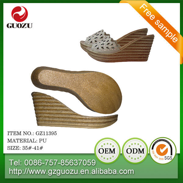 ladies pu slipper soles china