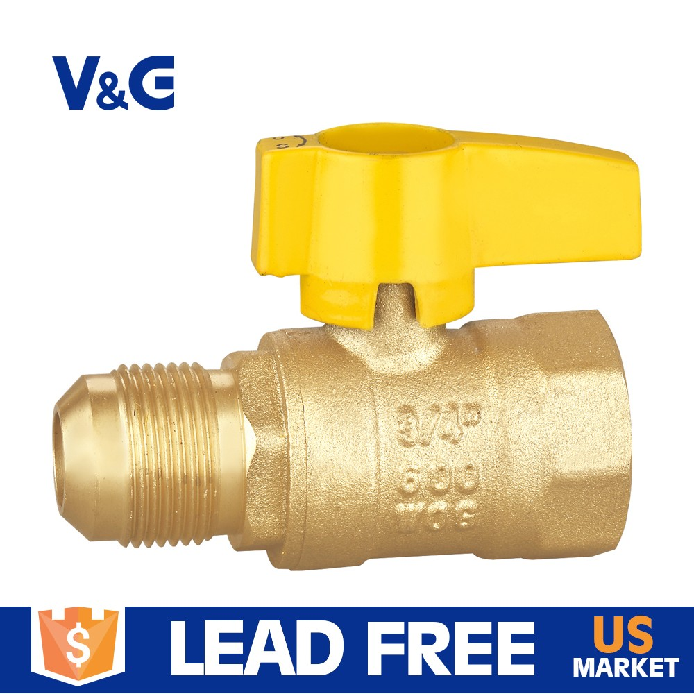 "1/2""FIPx5/8"" valogin hot selling forging brass CSA certified C37700 gas ball valves"