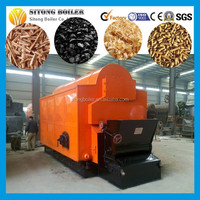 Horizontal Chain Grate wood fired hot water boiler Coal Fired Hot Water Boiler
