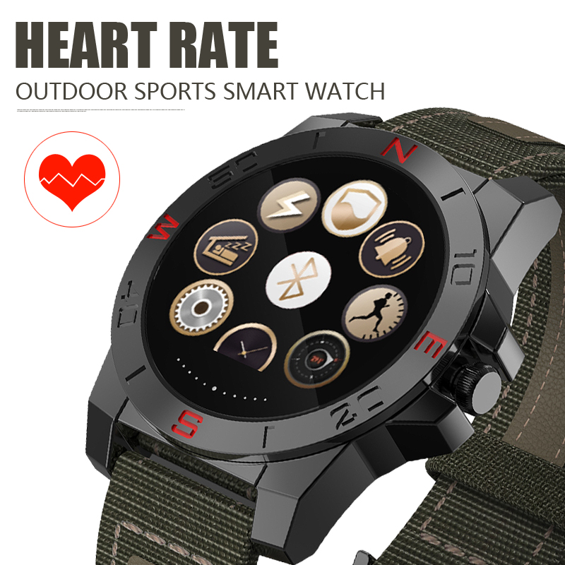 Outdoor Sport Smart Watch with Compass,Thermometer,Altimeter,Barometer,Heart Rate,Pedometer,Waterproof IP67