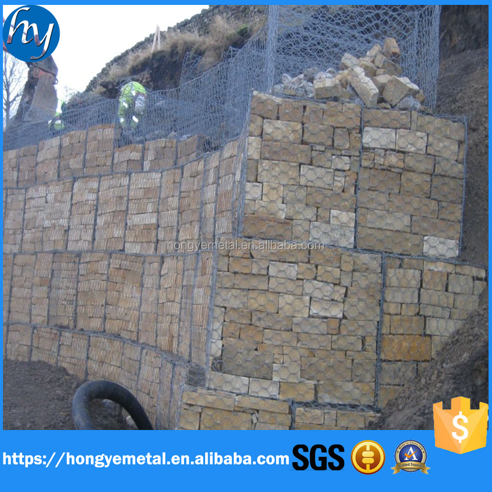 China Hot Dipped Galvanized Hexagonal Wire Mesh Gabion Box