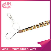 Fashion blinking light rhinestone lanyard with id badge holder on sale