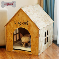Eco friendly Nature Foldable OSB Board Indoor Wooden Dog House