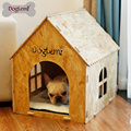 Eco friendly Nature Wooden Pet Cat Cave Foldable Known-down OSB Board Dog House